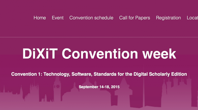 data or presentation? – DiXiT Convention I